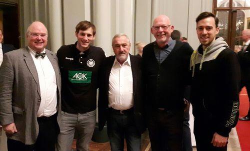 BHV-Delegierte mit Uwe Gensheimer und Patrick Groetzki