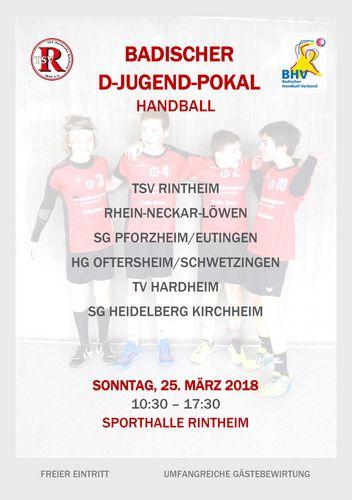 D-Jugend-Pokal-Ankündigungs-Plakat
