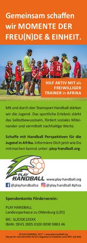 Ehemaliger Bundesligaspielerinnen unterstützen PLAY HANDBALL in Südafrika