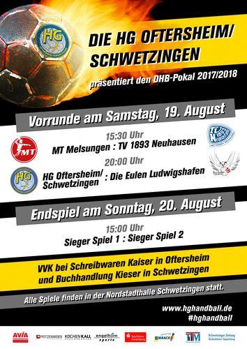 """HG Oftersheim/Schwetzingen am 19./20.08. Ausrichter eines DHB-Pokal """"First-Four"""""""