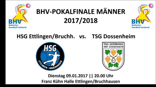 BHV-Pokalfinale 2017/2018 der Männer am 09. Januar