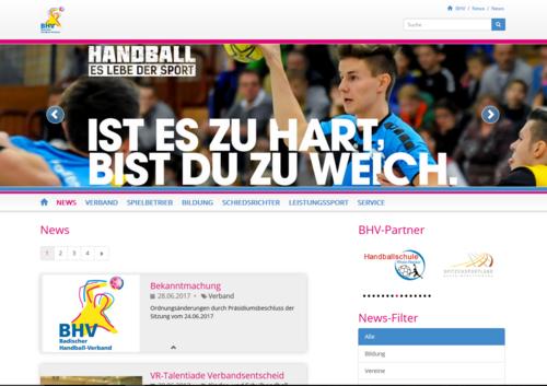 Neue Website für den BHV
